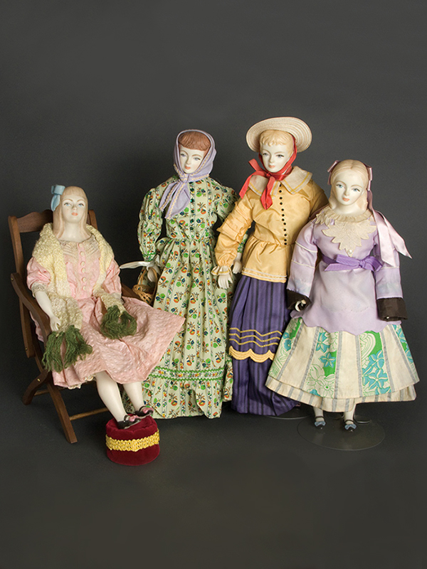 Little Women – Amy, Beth, Jo, Meg  1972 Porcelain