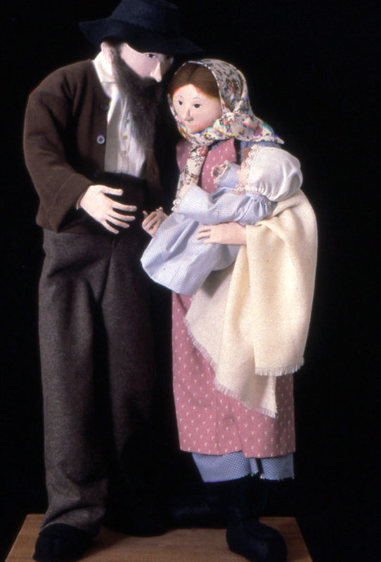 Mary, Joseph & Baby Made in 1990 Cloth