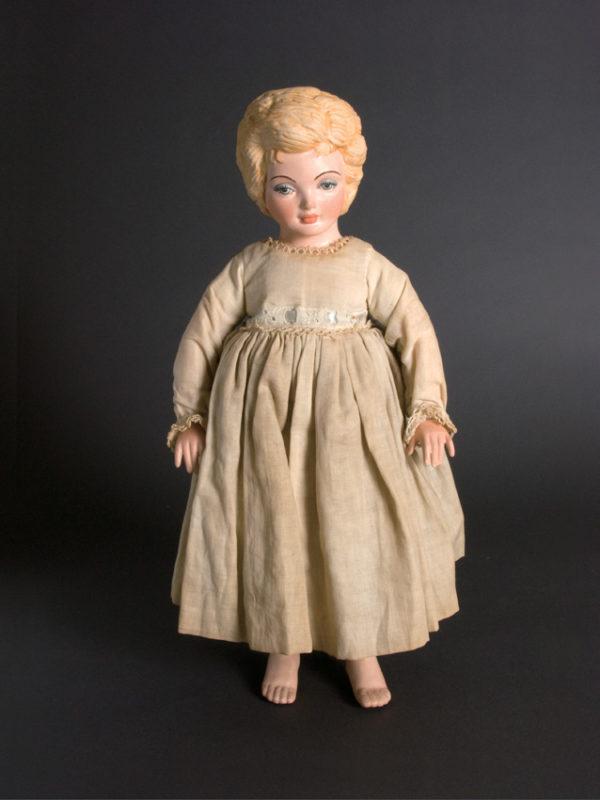 "Cherie 15-1/2""  Ceramic limbs, Cloth body"