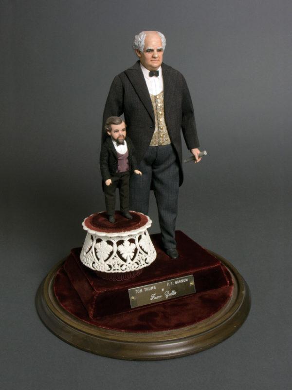 "P.T. Barnum  Tom Thumb YEAR:  11-1/2"" and 5"" Porcelain"
