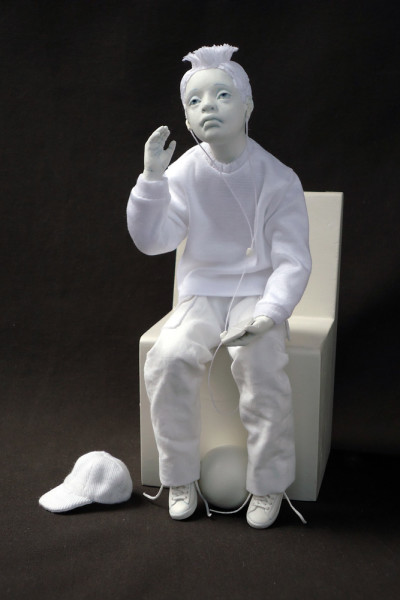 "9 1/2"" Sitting, Mixed media, 1997"