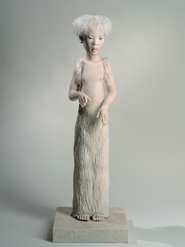 Untitled Boy 1999 Porcelain and wood
