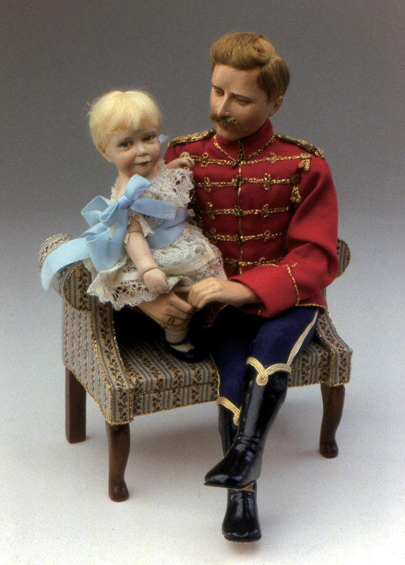 Kaiser Wilhelm I & Child Made in 1987 Air hardening clay on armature