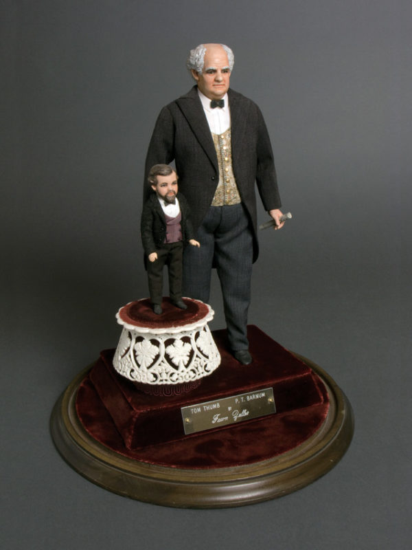 "P.T. Barnum  Tom Thumb YEAR:  11-1/2"" and 5"" Porcelain"