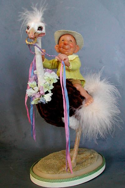 Parade Day Ostrich  - Annie Wahl