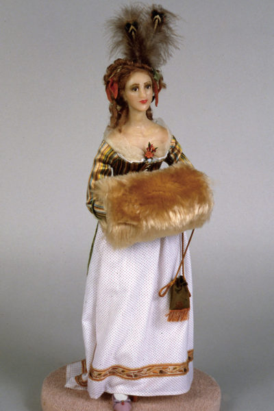 Woman with Fur Muff-Margaret Finch