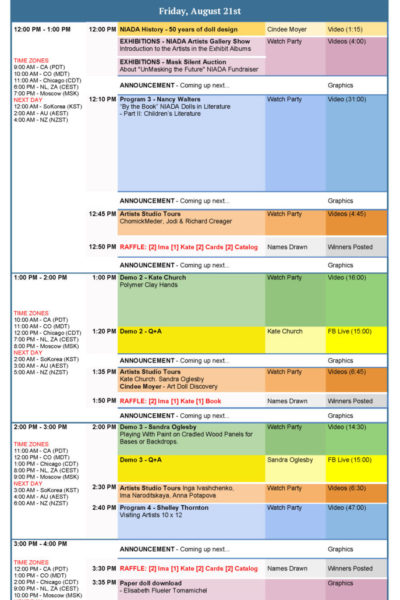 2020 Aug21 Virtual Conference Schedule
